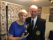 Jen (winner of Roy Gilbert Cup with Bev) and Alan
