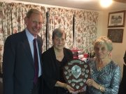 Alan, Brenda & Sylvia:Bill Wicks Shield Winners 2017 (Sylvia also won Ladies Pairs with Beryl; Alan also won Golden Oldies with Beryl)