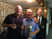 Daron and Brian (winners of Men's Triples with Mike) and Alan