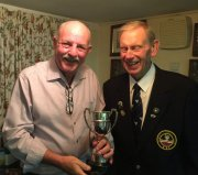 Dave (winner of Men's Pairs with Les) with Alan