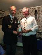 Alan with Terry (winner of Men's Handicap & Men's 2 Woods)