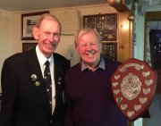 Alan (Club Captain) with Ray (winner of Janice Gilboy Trophy & Men's Championship)